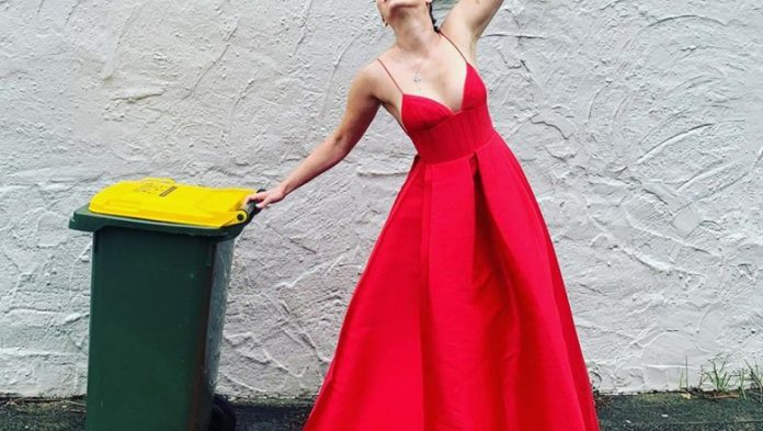 Australians dress up in dresses and funny costumes to throw away the garbage