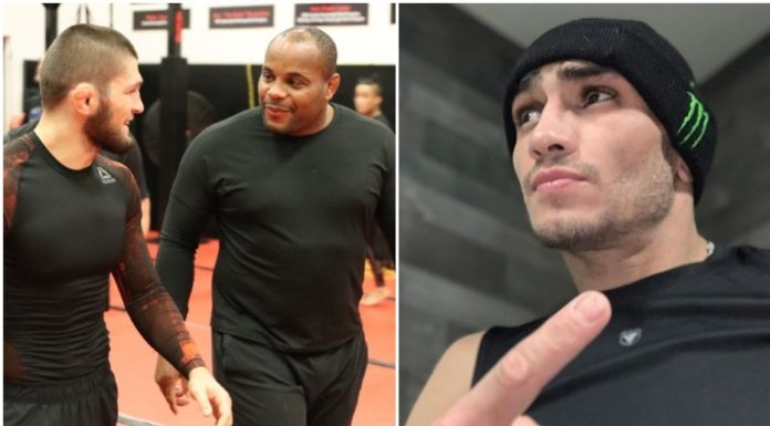 Khabib wouldnt do that Daniel Cormier heaps praise on Tony Ferguson for making weight for non existent fight
