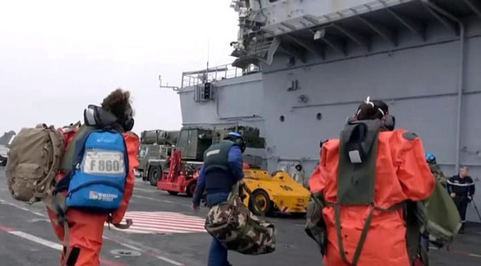 """50 sailors caught COVID-19 on the French aircraft carrier """"Charles de Gaulle"""""""