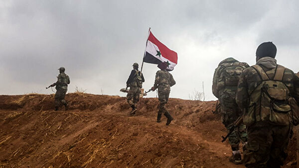 A group of militants who were trained at the US base surrendered to the Syrian army