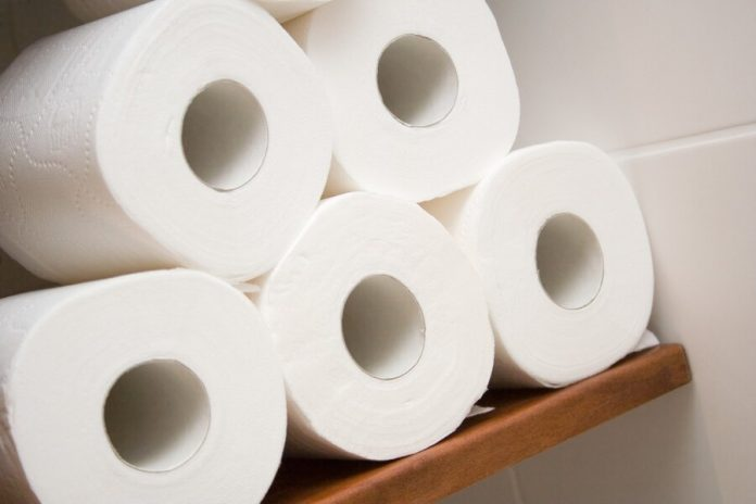 American restaurants began to add orders toilet paper