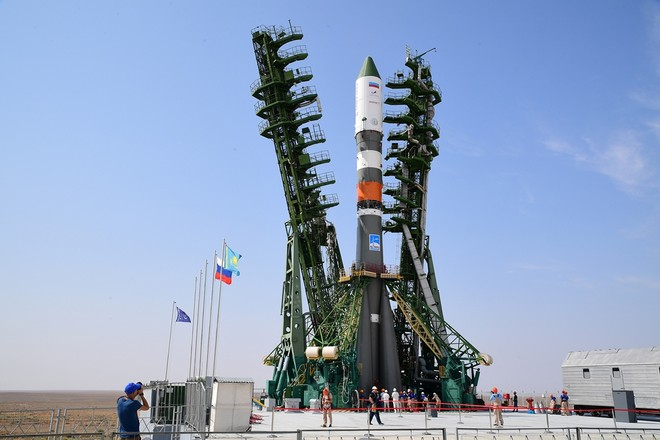 At Baikonur established at the start of the Rocket Victory