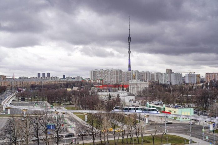Cloudy weather with rain will be established in Moscow on 14 April