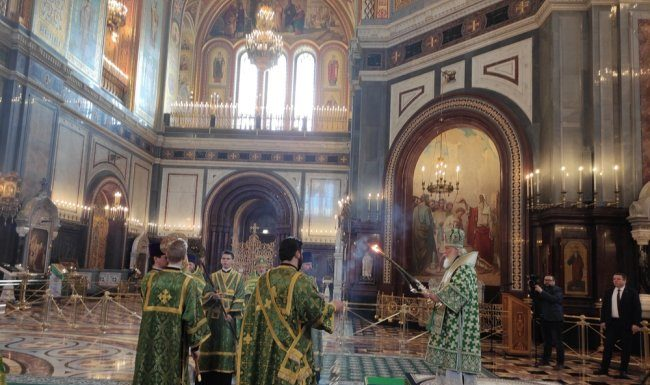 "Correspondent ""RG"" visited the Patriarchal service closed to the parishioners of the temple"