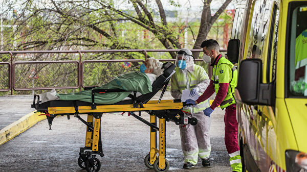 In Spain the day he died 288 patients with coronavirus