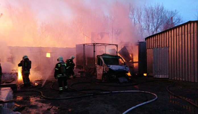 In the UK the fire occurred in the furniture warehouse