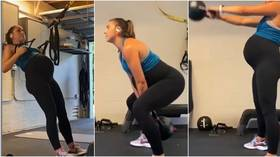 Is that safe US World Cup winner Alex Morgan splits opinion with workout at 9 months pregnant VIDEO