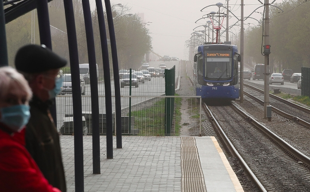 Kiev was covered by dust storm