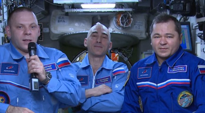 Members of the ISS crew congratulated earthlings with cosmonautics Day