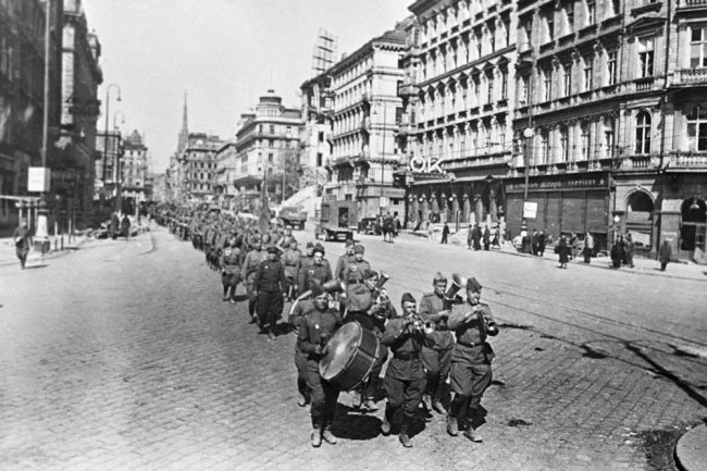 More than 70 years ago Red army liberated from the Nazis the capital of Austria