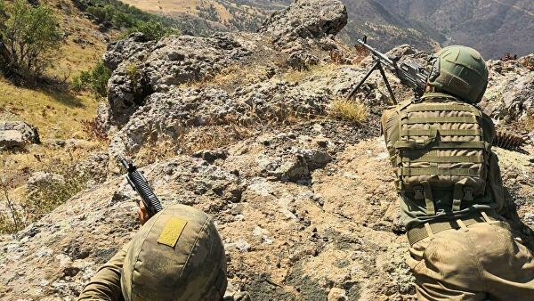 Of the Turkish armed forces neutralized in the North of Iraq the 12 members of the PKK
