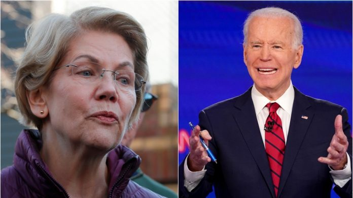 Playing it really really safe Warren waits until Bidens the last man standing before endorsing him for 2020