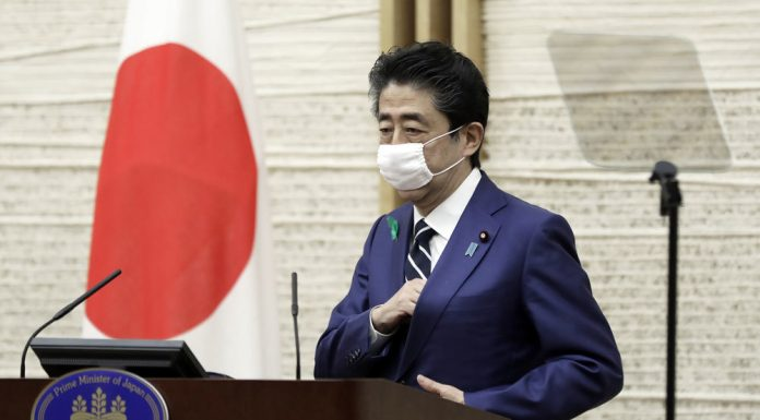 Prime Minister of Japan explained the decision to introduce a regime of emergency on the entire territory of the country