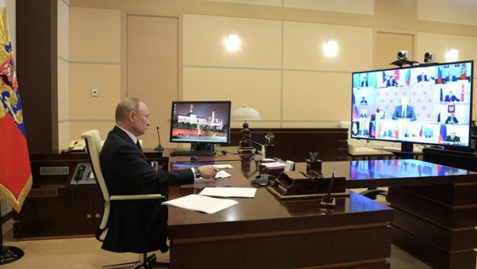 Putin holds a meeting on the fight against the coronavirus video