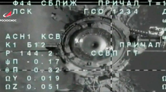 """""""Soyuz MS-16"""" with the Russian-American crew docked with the ISS"""