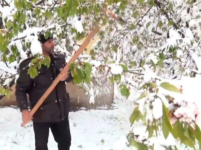 Tajikistan is covered with snow: this was not even in the winter (VIDEO)