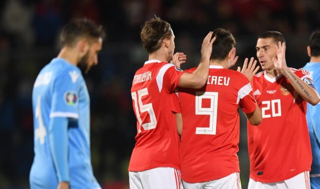 Team Russia remained at the 38th place in the FIFA rankings