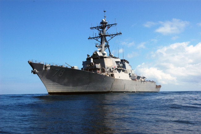 The black sea fleet took to support the American destroyer