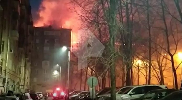 The fire occurred in a residential building in the South-West of Moscow