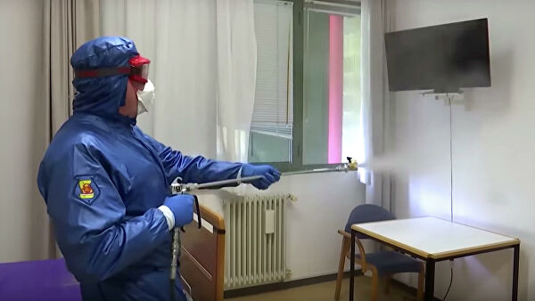 The military of the Russian Federation and Italy disinfected nursing homes in Lombardy