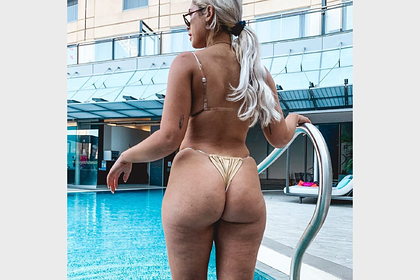 The model deliberately showed cellulite on pictures in bikinis and cheered the fans