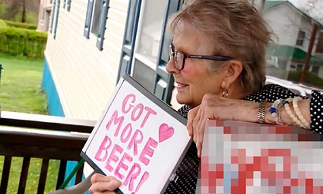 The old lady in the isolation wanted beer and became famous