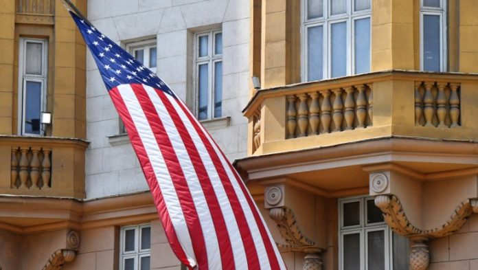 The US Embassy said the number of those who left Russian exchange students