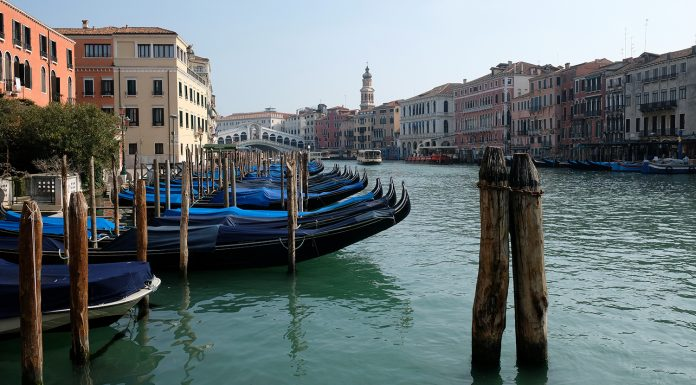 There was a video of empty without the tourists of Venice