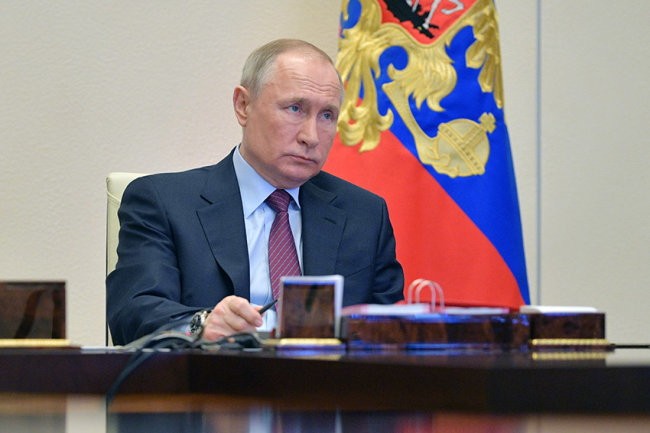 Video: Putin holds a meeting on the sanitary-epidemiological situation
