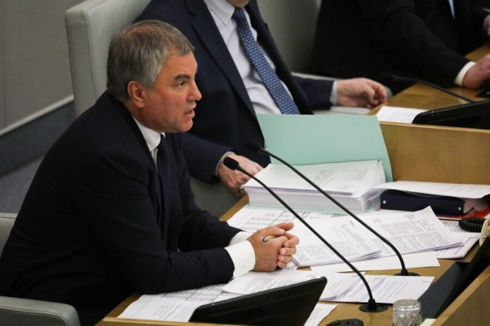 Volodin said that the state Duma will support small and medium businesses