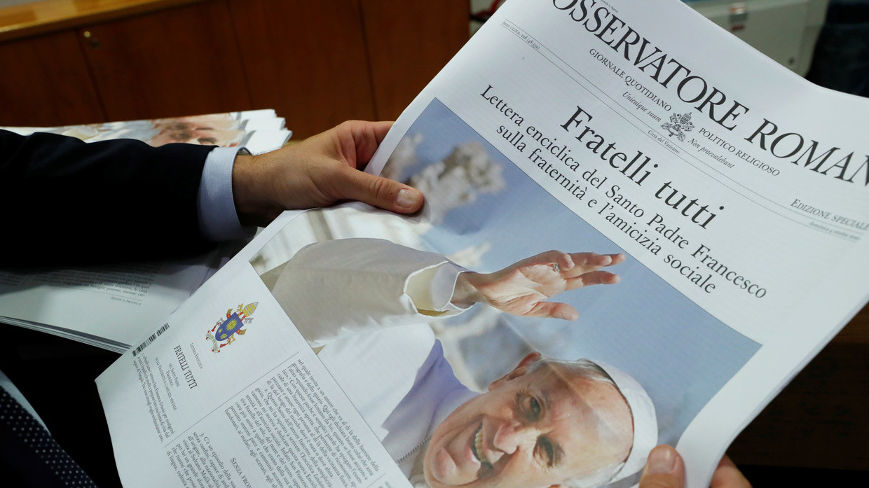 Pope slams capitalism injustices in WOKE view on post Covid world but gets heat for insufficiently inclusive letter TITLE | KXan 36 Daily News